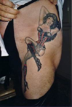 Bob Jungs sexy tattoo of his wife Cathie Jung